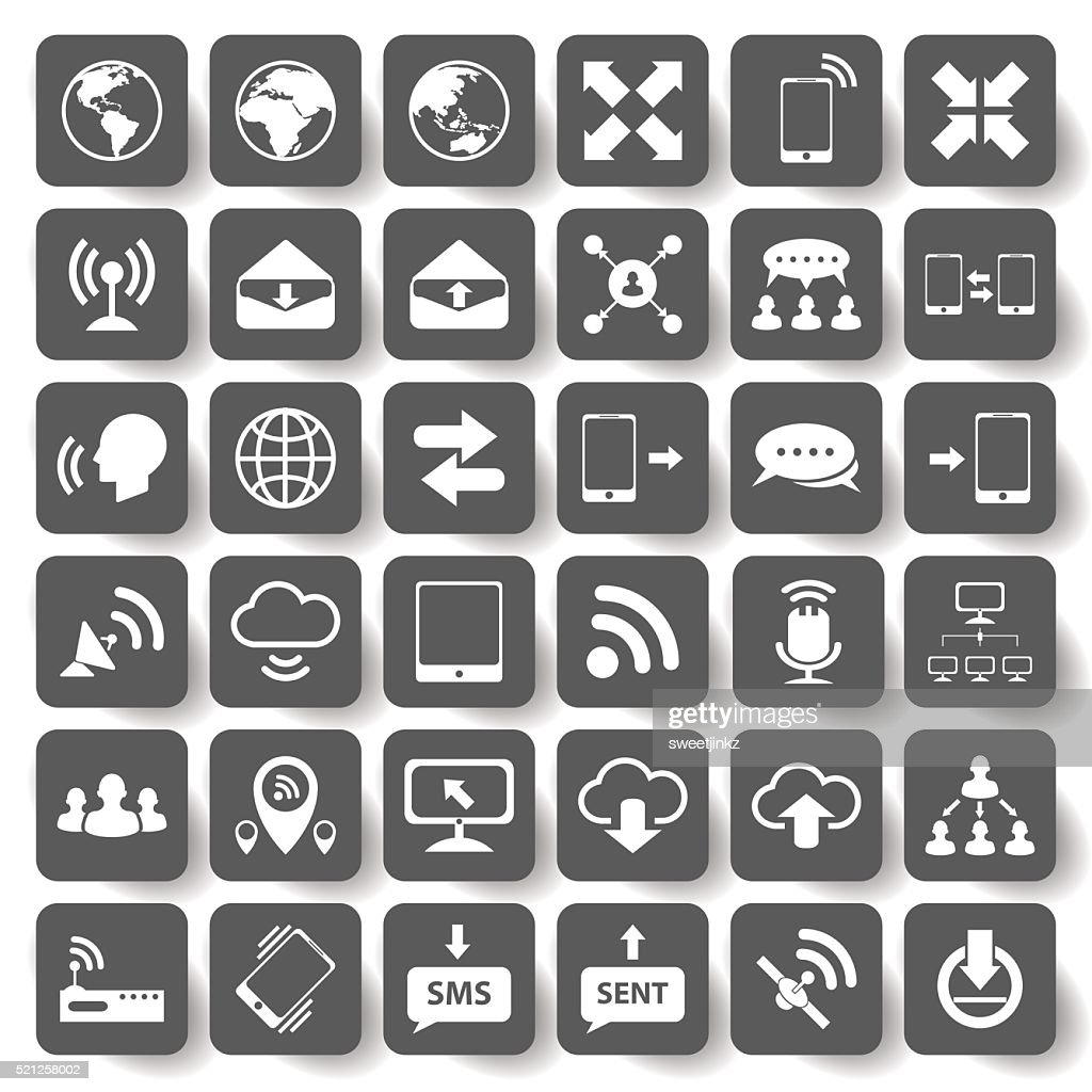 Internet and communication icons set.vector/illustration