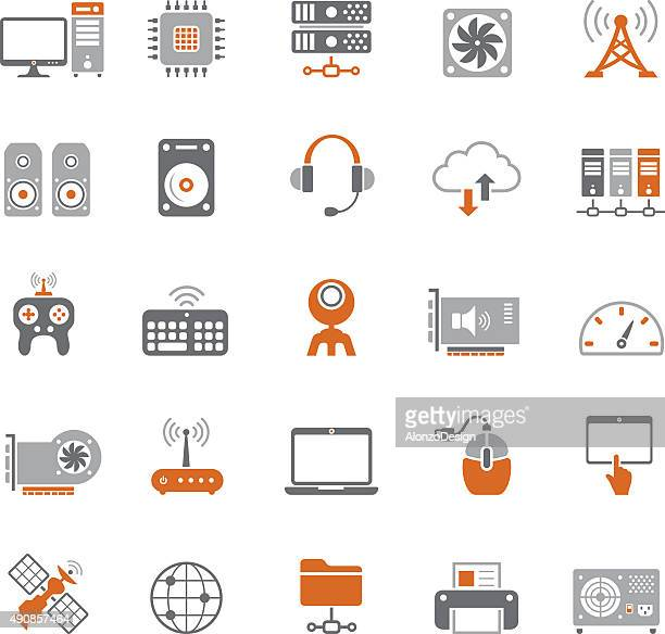 internet and computer hardware icon set - power supply box stock illustrations, clip art, cartoons, & icons