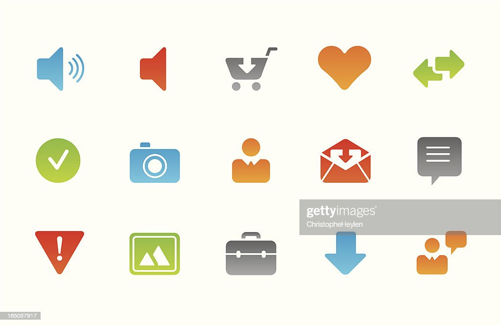 Internet and website business icons - bright series