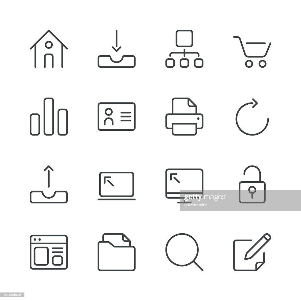 Internet and Website Icons set 1 | Black Line series : stock illustration
