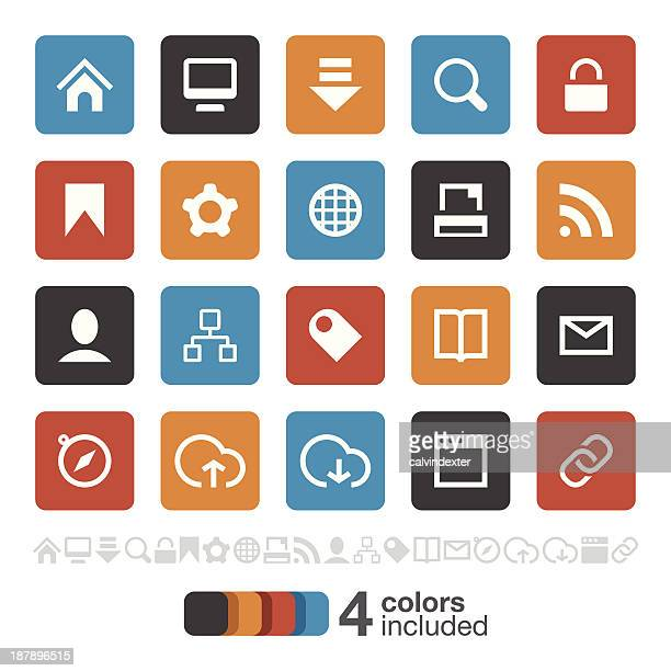 Internet and Website icons set 1 | Brooklyn Series
