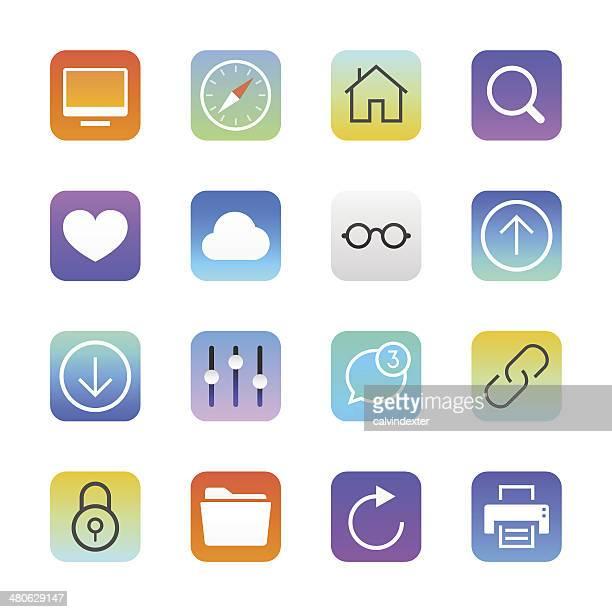Internet and Website icons set 1   Manhattan series