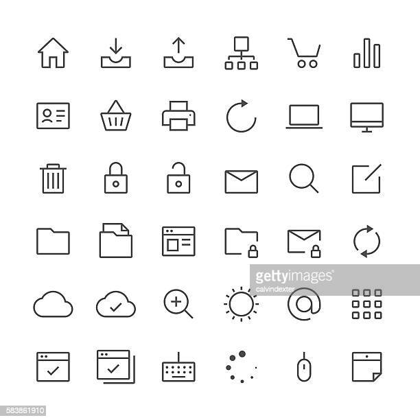 Internet and website icons set 1 | Thin Line series