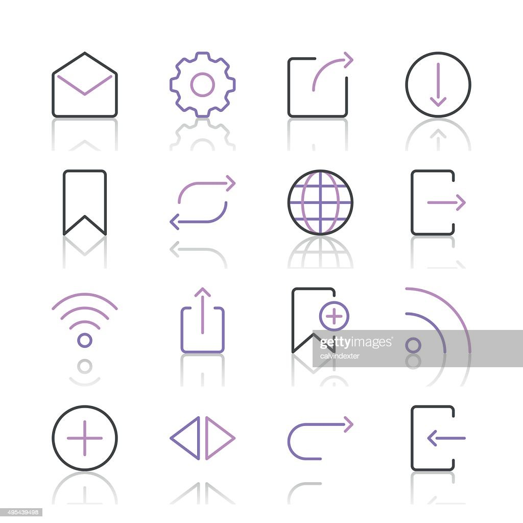 Internet and Website Icons set 2 | Purple Line series