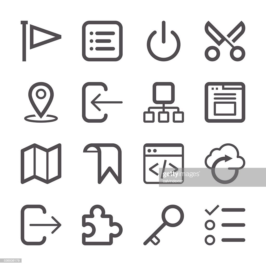 Internet and Website Icons set 2 | Stroke Series