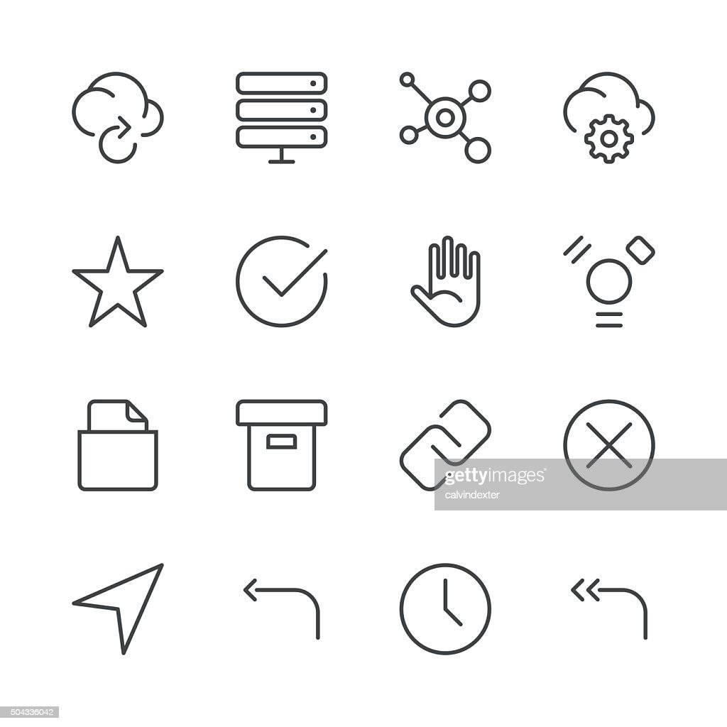 Internet and Website Icons set 3 | Black Line series