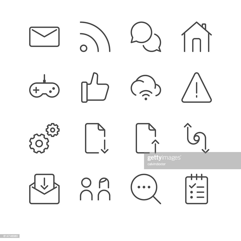 Internet and Website Icons set 5 | Black Line series