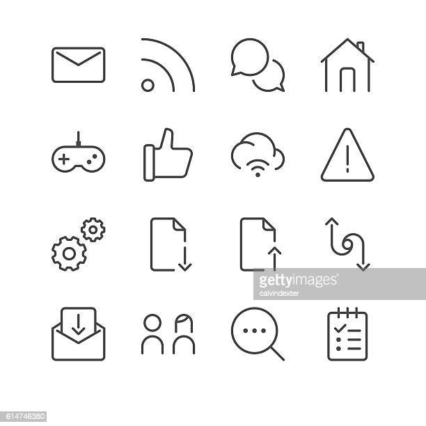 internet and website icons set 5 | black line series - to do list stock illustrations, clip art, cartoons, & icons