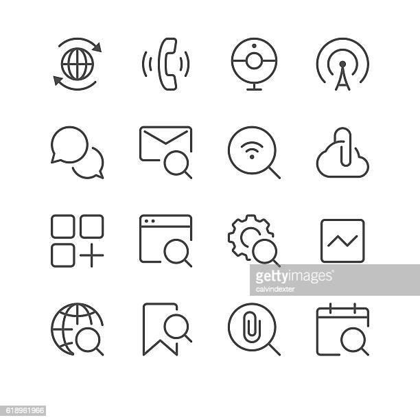Internet and Website Icons set 5 | Black Line series
