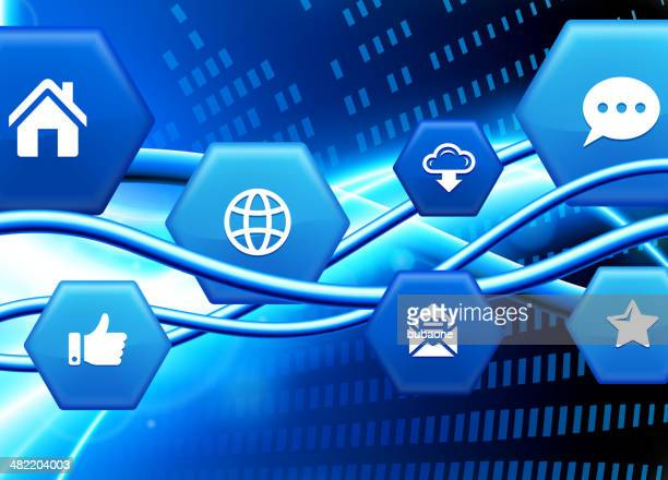 Internet Background with Computer royalty free vector arts