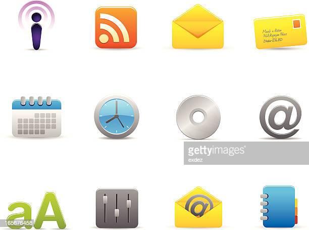 internet  based icon set - video editing stock illustrations, clip art, cartoons, & icons