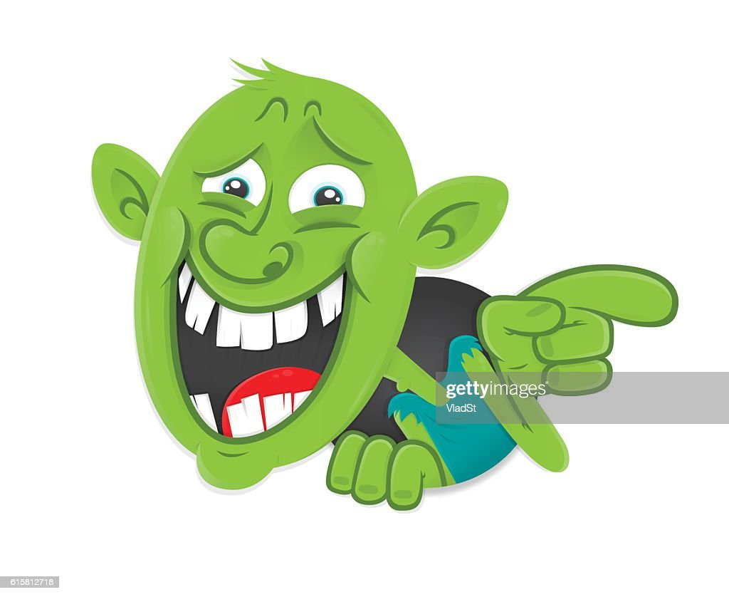 Internet bully troll mocking contemptuous sarcastic laughter : stock illustration