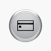 Internet button. credit card icon. vector illustration