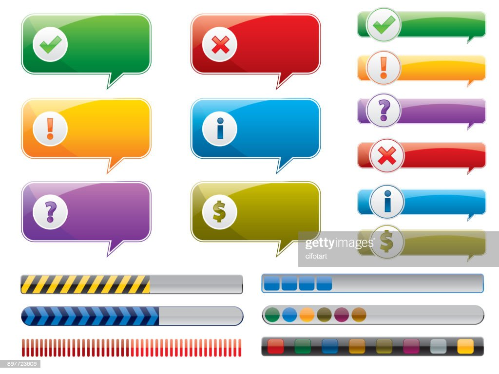 internet button set vector illustration