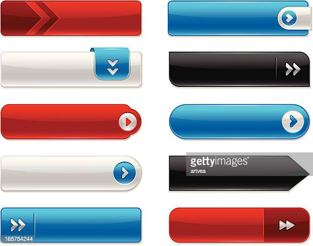 internet buttons - rectangle stock illustrations