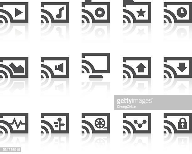 bildbanksillustrationer, clip art samt tecknat material och ikoner med internet cast icons | simple black series - skådespelare