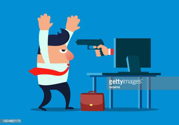 internet crime - office safety stock illustrations, clip art, cartoons, & icons