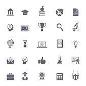 Internet education icons