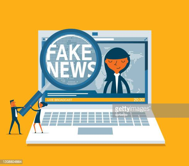 illustrations, cliparts, dessins animés et icônes de internet - fake news - fake news