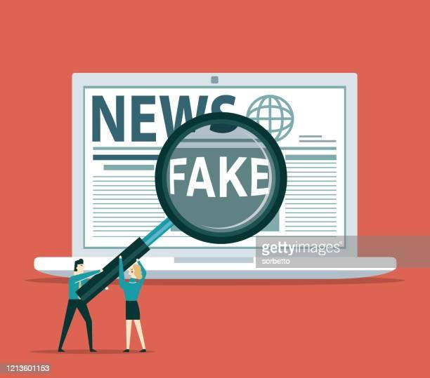 ilustrações, clipart, desenhos animados e ícones de internet - fake news - fake news