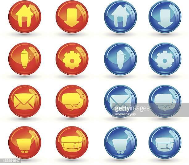 Internet Glass button