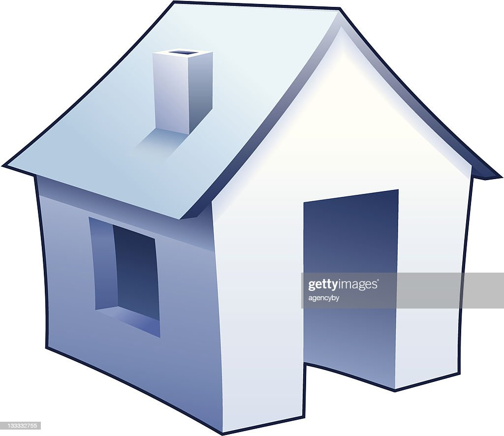 'Internet homepage' symbol - detailed icon of simple blue house