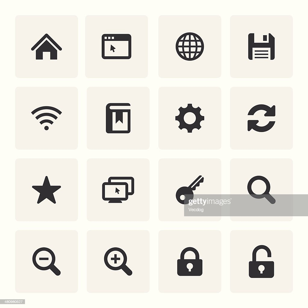 Internet Icon Set (Saro Series)