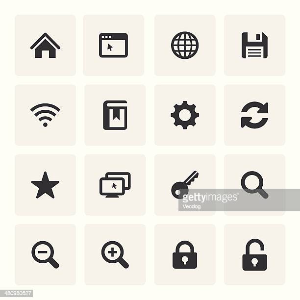internet icon set (saro series) - floppy disk stock illustrations, clip art, cartoons, & icons