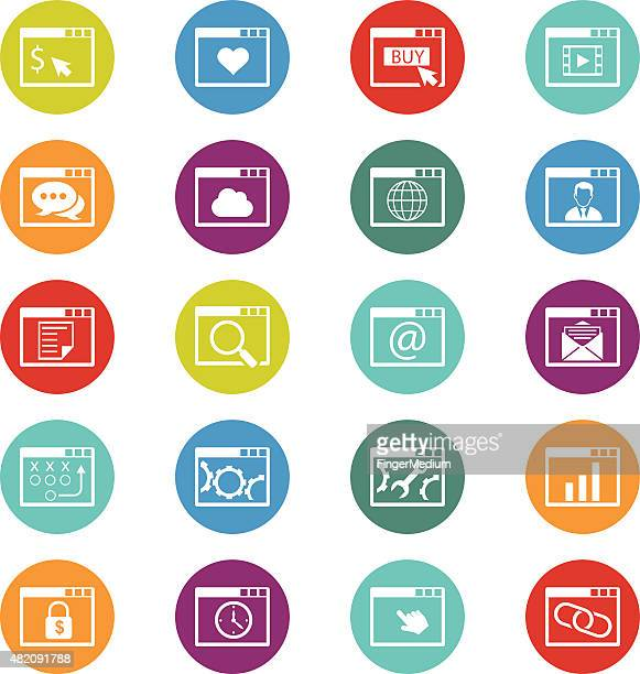 internet icon set - proofreading stock illustrations, clip art, cartoons, & icons