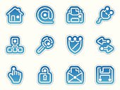 internet icons - azul frontera