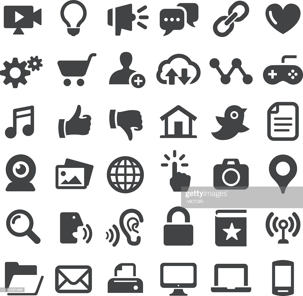 Internet Icons - Big Series : stock illustration