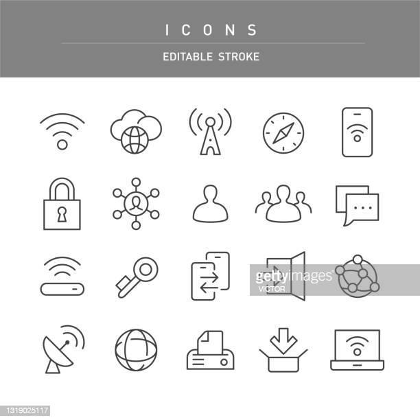 インターネット アイコン - ライン シリーズ - シンジケーション点のイラスト素材/クリップアート素材/マンガ素材/アイコン素材