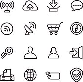 Internet Icons - Line Series
