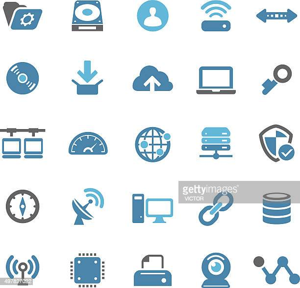 internet icons - qual series - hard drive stock illustrations, clip art, cartoons, & icons