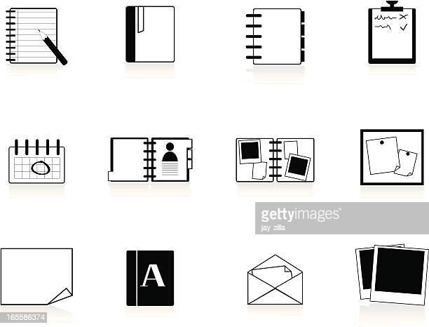 Internet Icons Series 2 - Documents, Black