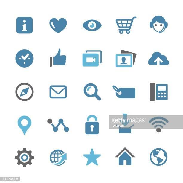 インターネットのアイコンを設定 - クアル シリーズ - ホームページ点のイラスト素材/クリップアート素材/マンガ素材/アイコン素材