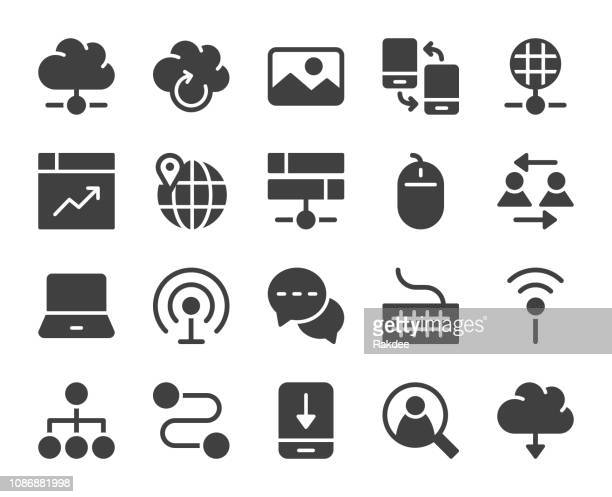 internet - icons - transfer image stock illustrations