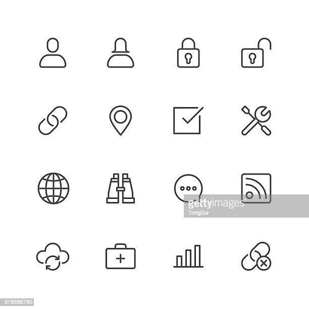 インターネットのアイコン - 開錠点のイラスト素材/クリップアート素材/マンガ素材/アイコン素材