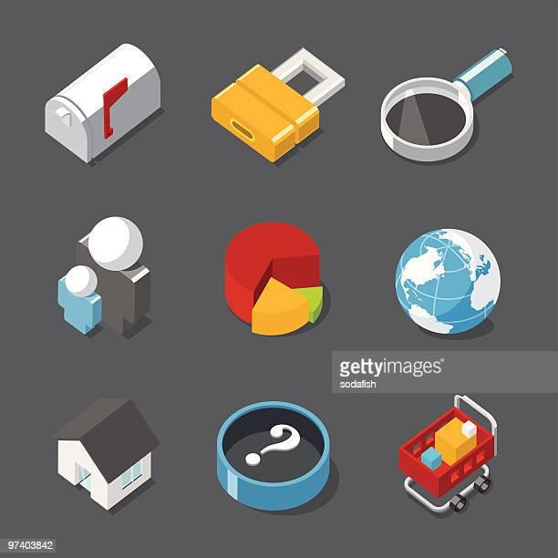 インターネットのアイコン - ワールド・ワイド・ウェブ点のイラスト素材/クリップアート素材/マンガ素材/アイコン素材