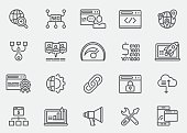 SEO & Internet Line Icons   EPS 10