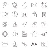 Internet line icons.Set 1.Vector