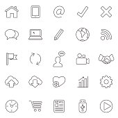 Internet line icons.Set 2.Vector