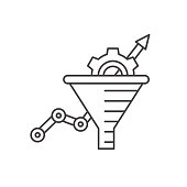 Internet marketing concept. Sale Funnel vector line icon.