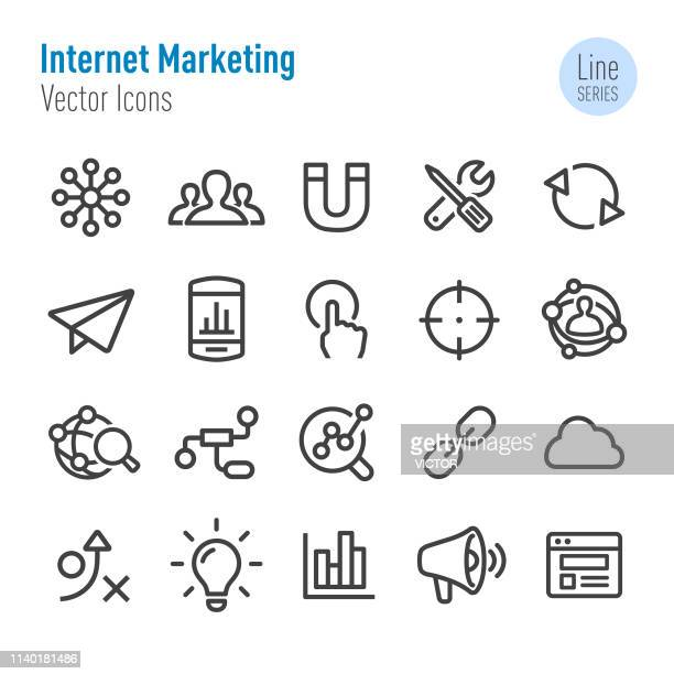Internet Marketing Icon - Vector Line Series