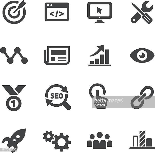 internet-marketing-symbole-acme serie - balkendiagramm stock-grafiken, -clipart, -cartoons und -symbole
