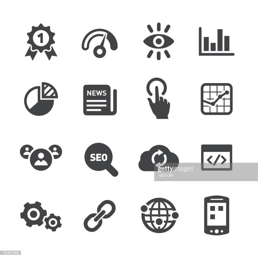 Internet Marketing Icons Set - Acme Series