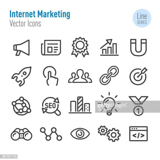 Internet Marketing Icons - Vector Line Series