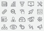 Internet Marketing Line Icons   EPS 10