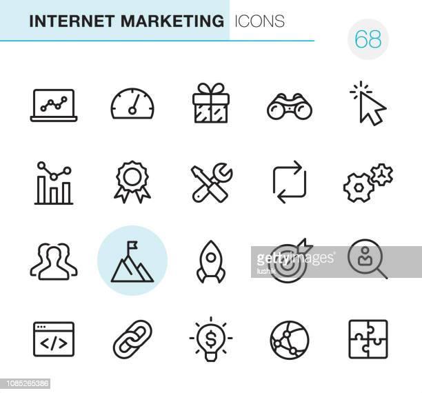 インターネット マーケティング - ピクセル完璧なアイコン - ソフトウェアアップデート点のイラスト素材/クリップアート素材/マンガ素材/アイコン素材