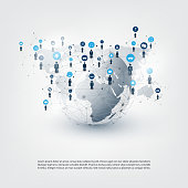 Internet of Things, Business Network Connections Concept